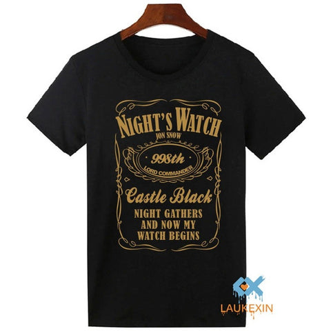 Game of Thrones T Shirt Mens Nights Watch