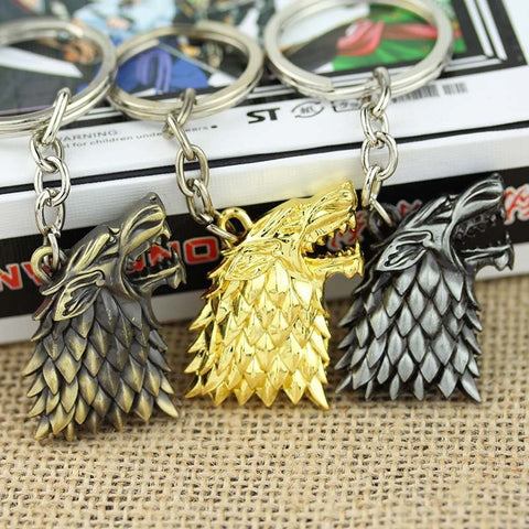 Game of Thrones House Stark Movie Keychain Key Chain