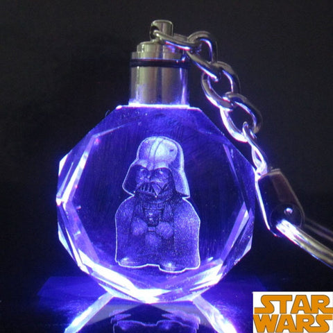 Star Wars Colorful Crystal Frozener LED Key Chain