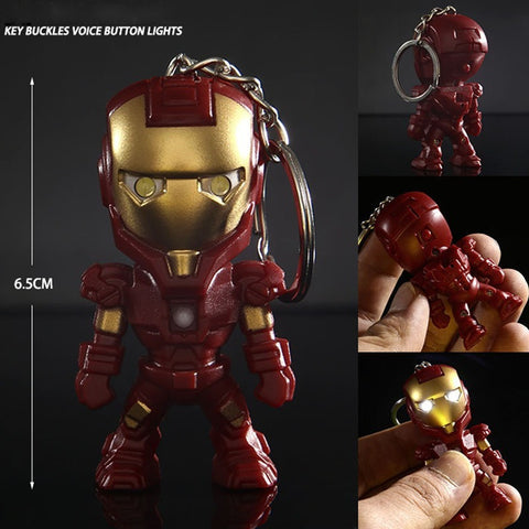 The avengers iron man LED keychain