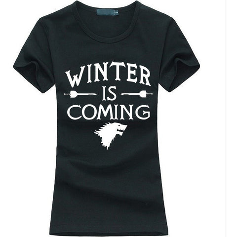 Game of Thrones Women T-Shirt Winter Is Coming