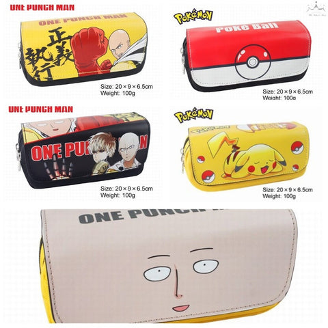 One punch man & Fairy tail &Totoro pen bag / pencil case/Pen pocket