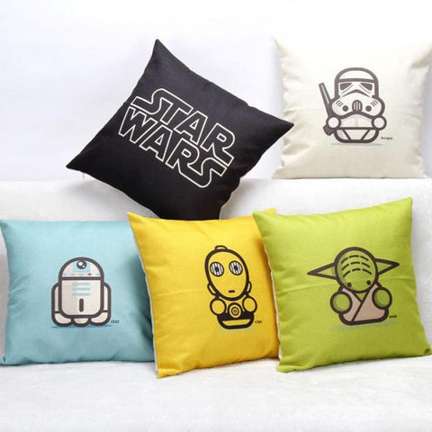 Star Wars Linen Throw Pillow Case