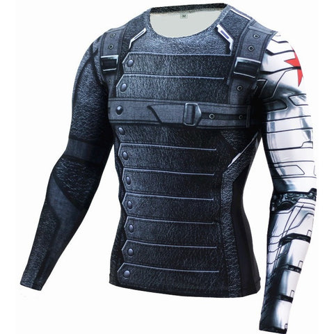 New 3D Winter Soldier Avengers Tshirt