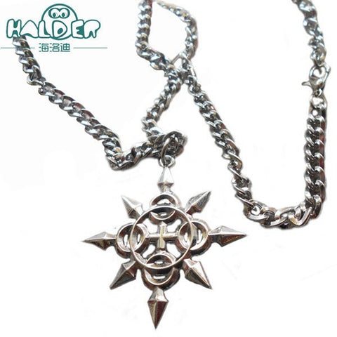 Kingdom Hearts AXEL Necklace Eight Angle weapons Pendant Necklace