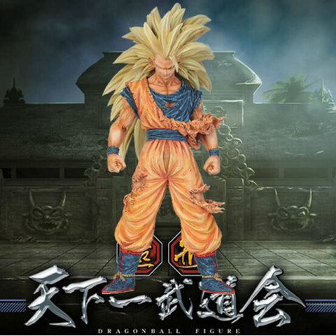 dragon ball Super saiyan three Battle damage Edition Son Goku Kakarotto action figure - GamerGift