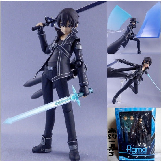 sword art online lovely Hand model Kirito SAO movable toy doll Action Figure