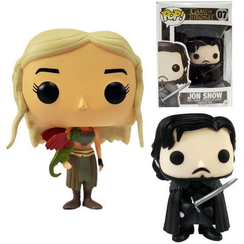 Game of Thrones Jon Snow Daenerys Targaryen Vinyl Action Figure