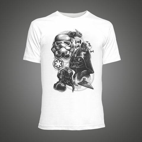 Star Wars Empire Sketch robot t-shirt