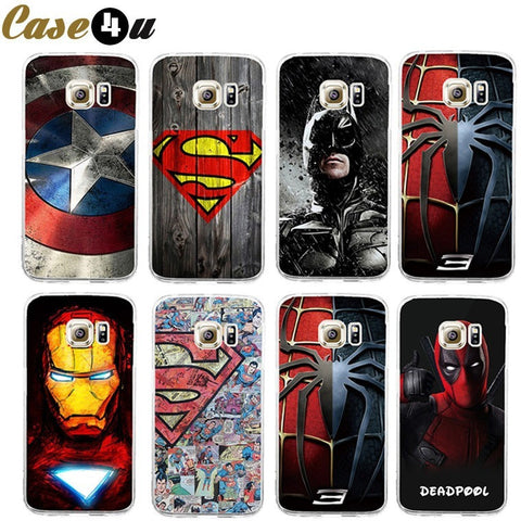 Avengers Superhero Phone Case Coque For Samsung Galaxy