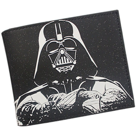 Star Wars Wallet High Quality Leather Short Purse Black Knight Wallet
