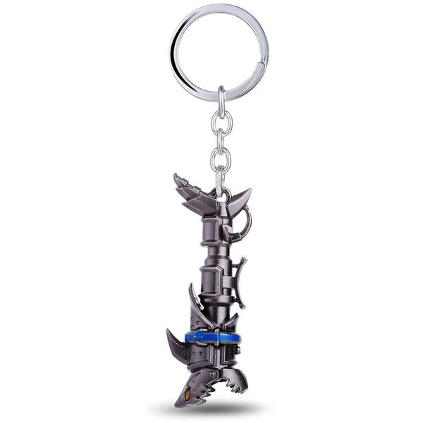 LoL Jinx cannon Keychain made of  Metal , FREE SHIPPING