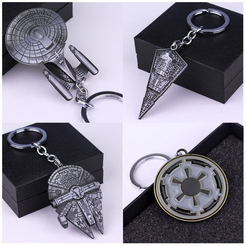 Star Wars Star Trek Spaceship Keychain