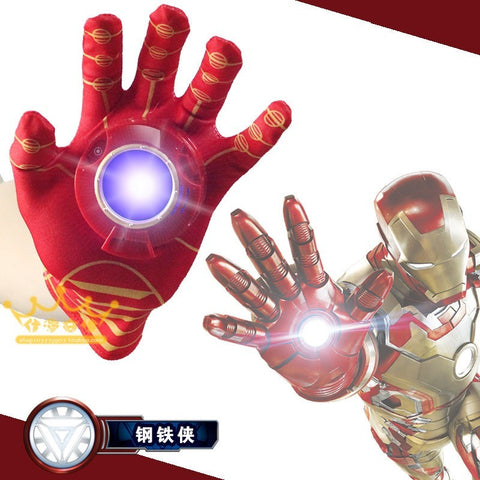 Iron Man Glove Emitter Flash Sound Action