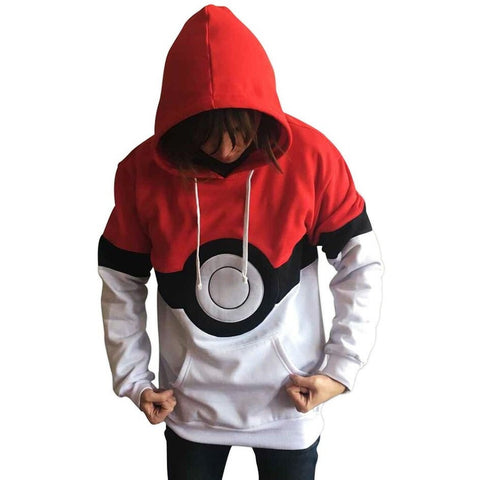 Pokemon Hoodies Eyes Robot Printed Men Sportwear Sweatshirts