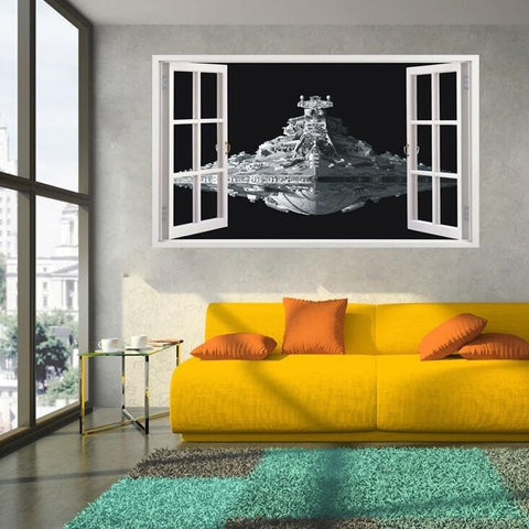 Star Wars Stickers 3D Star Destroyer Waterproof Wall Sticker