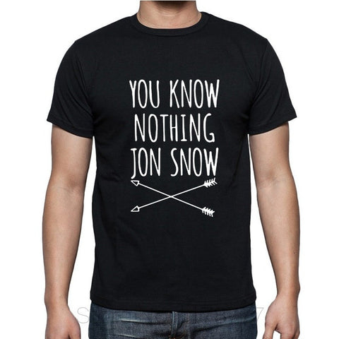 Game Of Thrones You Know Nothing Jon Snow T Shirt