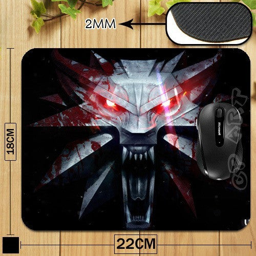 Witcher 3 Wild Hunt Game Logo Professional Printing Mouse Pad