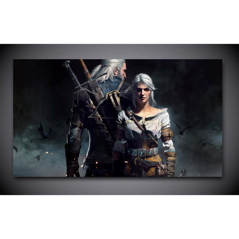 witcher geralt and ciri print painting on canvas Wall Art Picture Home Decoration
