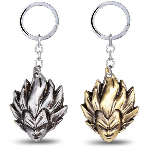 (HOT!!) Julie Dragon Ball Keychain Z Son Goku Saiyan 3D Head Keyring