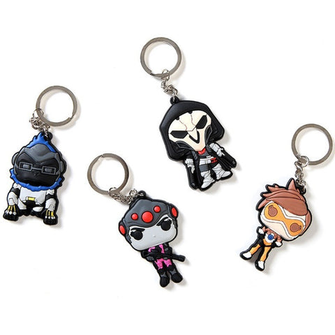 (HOT!) Overwatch Key Chains Blizzard Entertainment Key Ring Holder - GamerGift