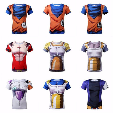Dragon Ball Z T Shirt Vegeta Goku Piccolo Super Saiyan Tee Shirt - GamerGift