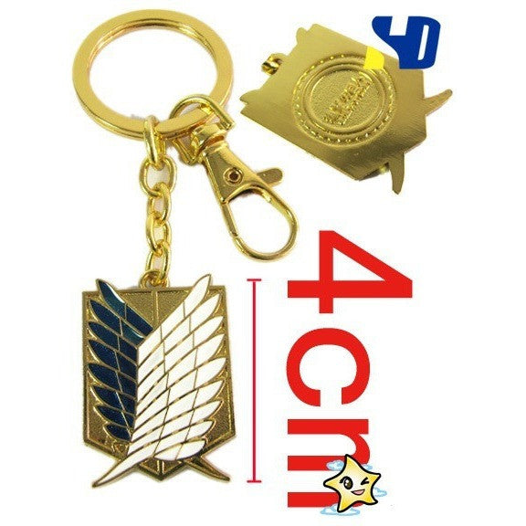 Anime Attack on Titan Wings of Liberty Metal figures toys Keychain/Necklace