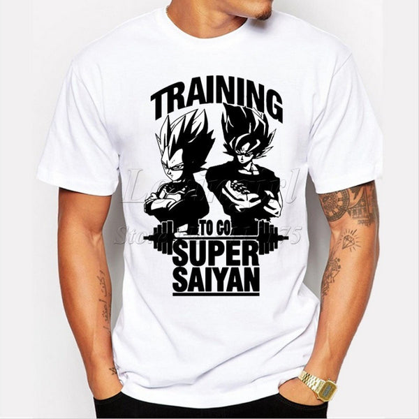 Dragon Ball Goku Z Vegeta Printed Tees Anime Tops