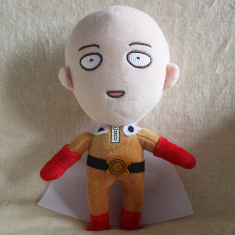 One Punch Man 24cm Saitama Soft Plush Doll Toy Figure