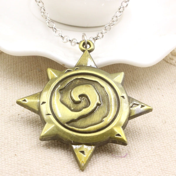 Hearthstone Heroes of Warcraft Mark Antique Bronze Pendant Necklace