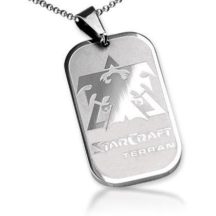 Starcraft II 2 The Wing of LibertyTerran Dog Tag Necklace