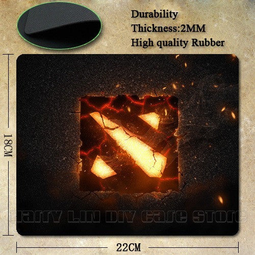 Dota 2 logo Rubber Soft gaming mouse Cool black mouse pad