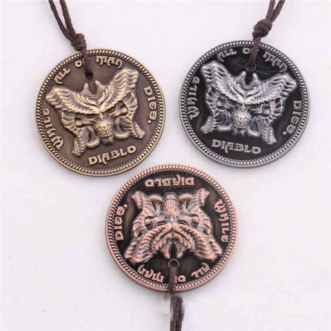Diablo 3 Liberty Diablo Sign Alloy Men Necklace Pendant - GamerGift
