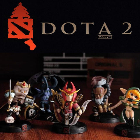 DOTA 2 Game Figure Kunkka Lina Pudge Queen Tidehunter CM FV PVC Action Figures - GamerGift