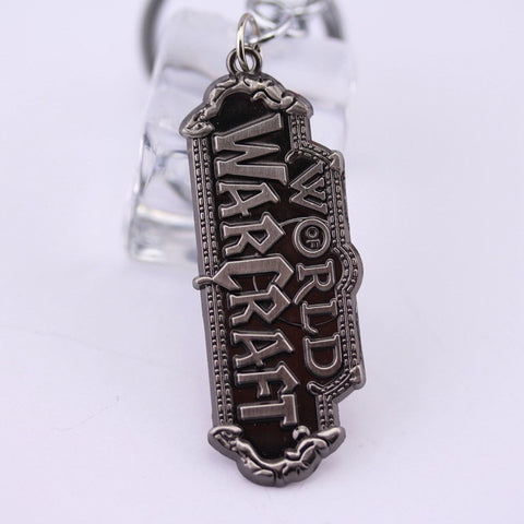 World of Warcraft Logo Sculpted Metal Keychain