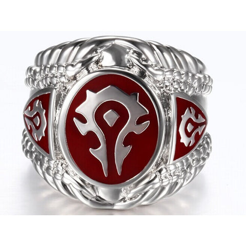 Red Black Color Fashion Jewelry World of Warcraft Ring