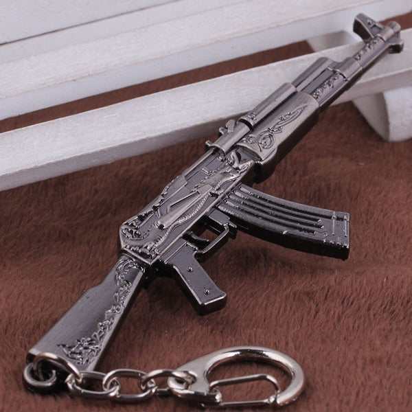 Counter Strike AK47 AWP Eagle Weapons Metal Keychains