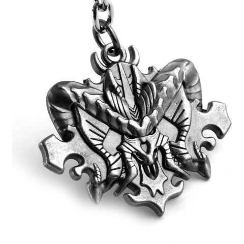 Diablo III 3 Logo Face Head Gamer Metal Keychain Figure Key Chain - GamerGift