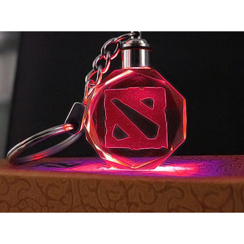 High Quality Crystal Dota 2 Promotional Key Chain  Changing LED Light - loveit-shop