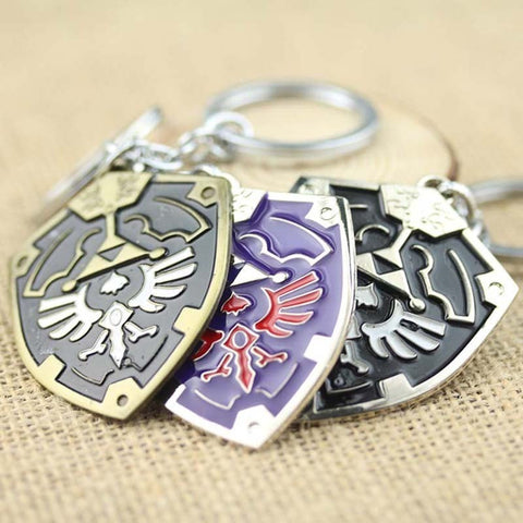 The Legend Of Zelda Ocarina Of Time Enamel Metal Shield logo Keychain