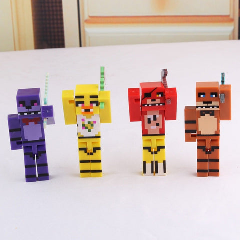 Minecraft Five Nights At Freddy's 4 Action Figures 8pcs