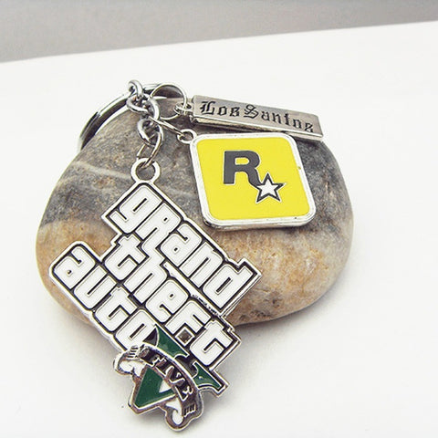 Grand Theft Auto V Logo Keychain - loveit-shop