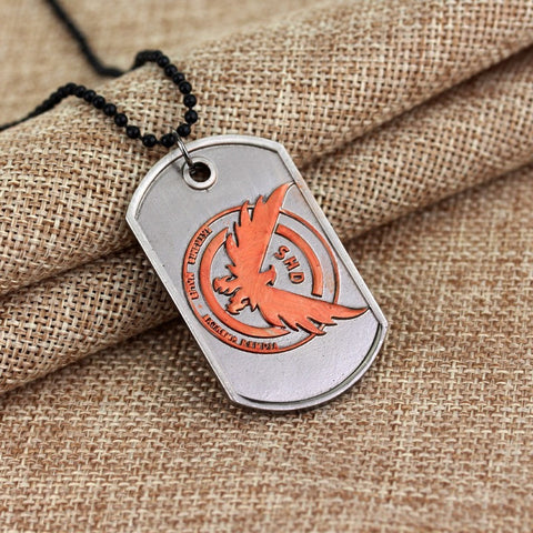 Tom Clancy's The Division Necklace Letter Logo Dog Tag