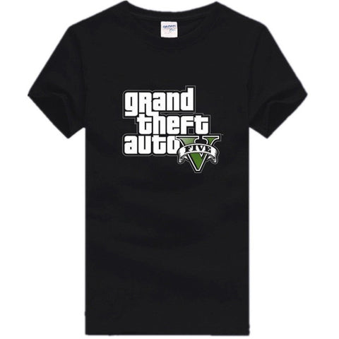 Gta 5 T Shirt Mens T Shirt Print Cotton Fitness Adolescent - GamerGift.net
