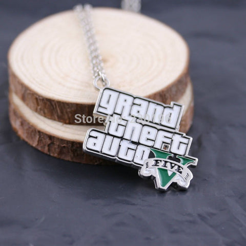 Grand Theft Auto Logo 5 Necklaces For Men Fans High Quality - GamerGift.net