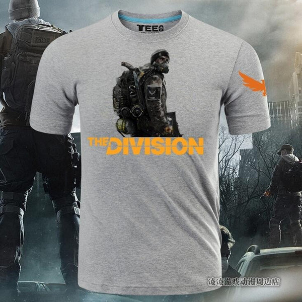 Tom Clancy  Steel Cotton T-shirt Game Animation Tees