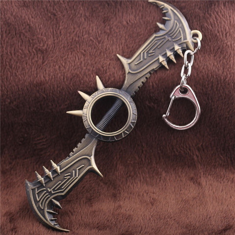 Draven Glory Execution Officer Weapon Axe Metal Pendant Key Chain - GamerGift