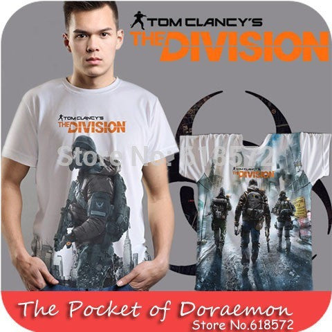 Tom Clancy's The Division Printed Sports Fabrics Fashion Brand Men T shirt