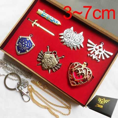 The Legend of Zelda Shield Skyward Sword Blade Weapon Metal Charms