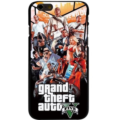 GTA 5 V Hard black Cover cell phone Case for iPhone - loveit-shop